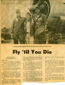 Fly 'til You Die Newspaper Article