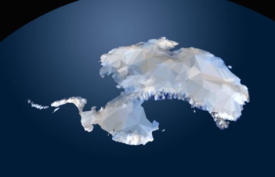 Antarctica low poly from GIS