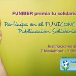 """FUNIBER lanza hoy el FUNICONCURSO """"Publicación Solidaria"""""""