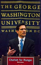 House Majority Leader Eric Cantor speaks at the GW Hillel in 2012. Hatchet File Photo.
