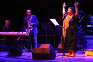 Poet Toni Asante Lightfoot performed at Lisner Auditorium this August. Hatchet File Photo.