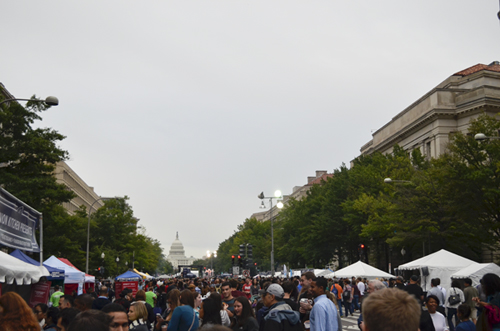 Taste of D.C., an annual festival that draws thousands, shut down parts of Pennsylvania Avenue on Saturday and Sunday. Erica Christian | Contributing Photo Editor