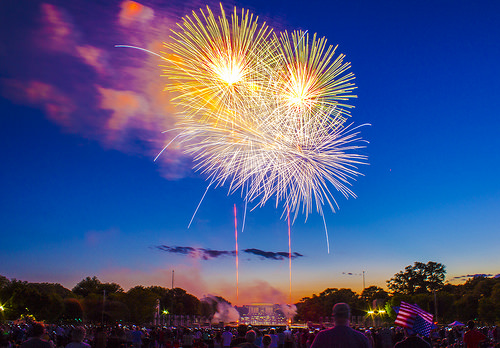 The fireworks on the National Mall are nice, but plan on getting there early if you want to see them. Photo by Zach Montellaro used under a CC-NC-SA 2.0 licence.