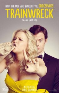"Promotional poster for ""Trainwreck."""