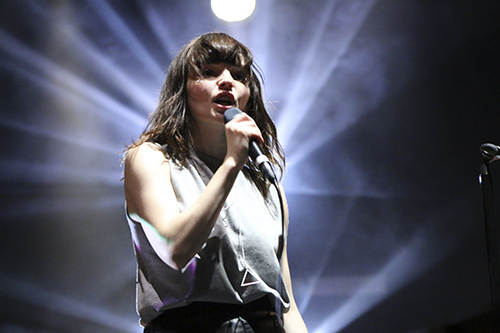 CHVRCHES drew one of the bigger crowds at the weekend's Landmark Festival. Jordan McDonald | Hatchet Staff Photographer