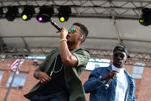 "Niko & Vinz performed hits like ""Am I Wrong"" for a full crowd in University Yard at Fall Fest Saturday. Jordan McDonald 