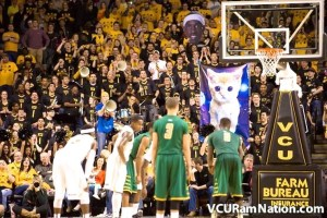 The VCU pep band's space kitten. Photo courtesy of VCURamsNation.com