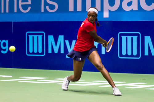 Kastles player Sloane Stephens won the women's singles set 5-2. Zach Montellaro | Hatchet Staff Photographer