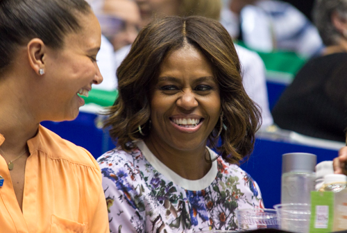 First Lady Michelle Obama watched as the Kastles clinched home court advantage for the Eastern Conference Championships. Zach Montellaro | Hatchet Staff Photographer