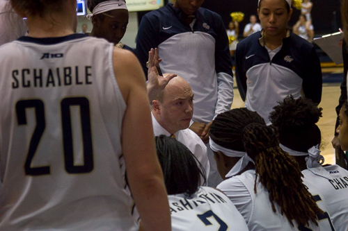 After four years at the helm of GW women's basketball, head coach Jonathan Tsipis has left the program, the University announced Monday.  Zach Montellaro | Hatchet Staff Photographer