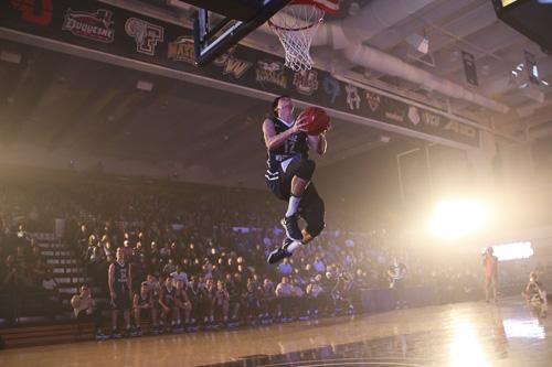 Junior Yuta Watanabe won this year's dunk contest at Colonials Madness. Dan Rich | Photo Editor