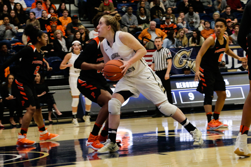 Senior guard Hannah Schaible put up 11 points, 9 rebounds and a career-high 5 steals in GW's 56-45 win over Princeton Sunday afternoon.