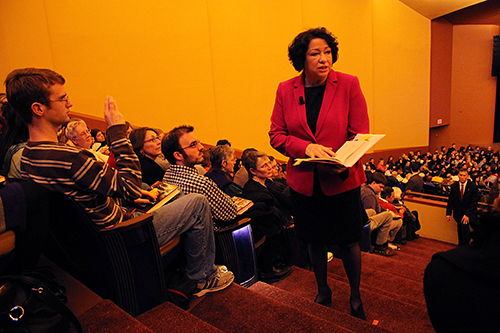 Sonia Sotomayor, one of President Barack Obama's picks for the nation's highest court, spoke about her newest memoir in January at Lisner Auditorium. Hatchet File Photo.