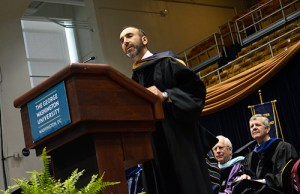 Hossein Fateh, CEO of DuPont Fabros Technology, told business graduates they are in the perfect time and place for success at the specialized masters ceremony. Erica Christian | Photo Editor