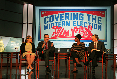 Four GW alumni and political journalists returned to campus to talk about their reporting and the 2014 midterm elections. Charlie Lee | Hatchet Photographer