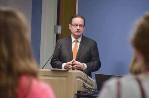 Elliott School of International Affairs Dean Michael Brown announced last week that he would leave his position this spring. Hatchet File Photo.