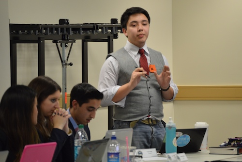 Sen. Frank Fritz (CCAS_U) introduces a bill that would allow GW students to vote on whether or not they believed the University should divest its holdings in fossil fuel companies. The bill failed by one vote. Kiana Robertson   Hatchet Photographer