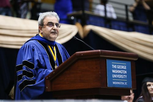 Dean of the College of Professional Studies Ali Eskandarian told graduates to take risks during the graduation ceremony. Dan Rich | Contributing Photo Editor