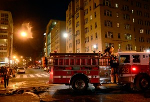 D.C. Fire and EMS extinguished the fire by about 5:45 p.m.