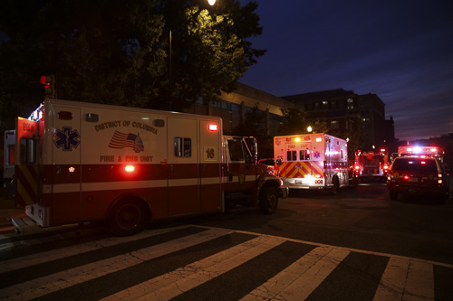 D.C. Fire and EMS responded to a medical emergency inside the Smith Center early Tuesday evening. Dan Rich | Photo Editor