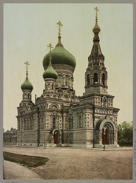 Varsovie. Eglise Russe. Warszawa. C.P. Iew Prawoslawna. Photochrom by Photoglob Co., between 1894 and 1906. //hdl.loc.gov/loc.pnp/ppmsca.52707