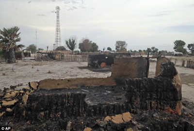 Heavy fighting in Leer early in 2014 resulted in destruction of many of the structures in the South Sudan Town (AP)