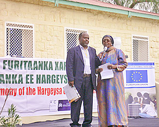 Jama Musse Jama and Ayan Mahamoud have worked tirelessly to raise funds for a new Cultural Centre in Hargeysa