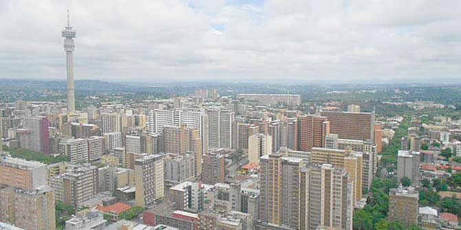 This view over Hillbrow is a compelling one for slum tourists  Photo: Fabian Frenzel