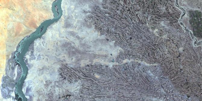 Sudan agriculture Landsat  Photo Credit: Public Domain, via Wikimedia Commons