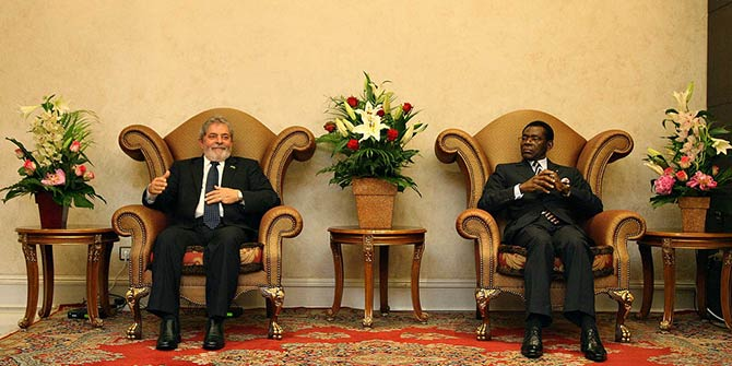 Presidente Lula is alongside Obiang Nguema Mbasogo,of Equatorial Guinea in Malabo. Photo Credit: Ricardo Stuckert/PR