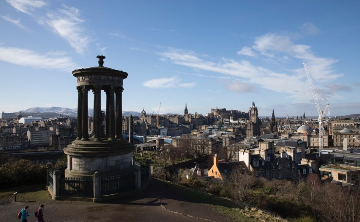 Image taken from the top of Calton Hill.
