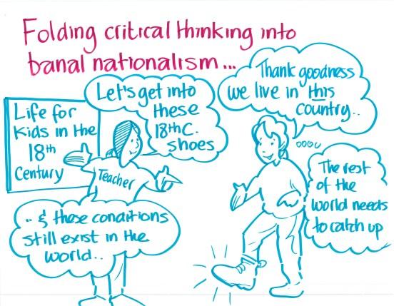 """Folding critical thinking into banal nationalism..."""