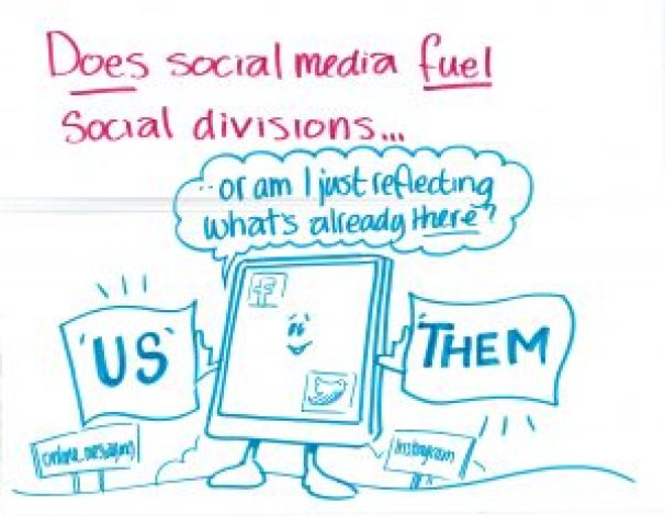 """Does social media fuel social divisions... or am I just reflecting what's already there?"""