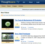 thoughtware.tv: science at one's fingertips!
