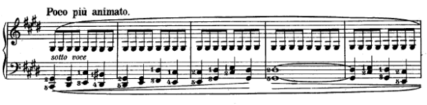 Ausschnitt aus Chopins 'Regentropen-Prélude' - Teil II