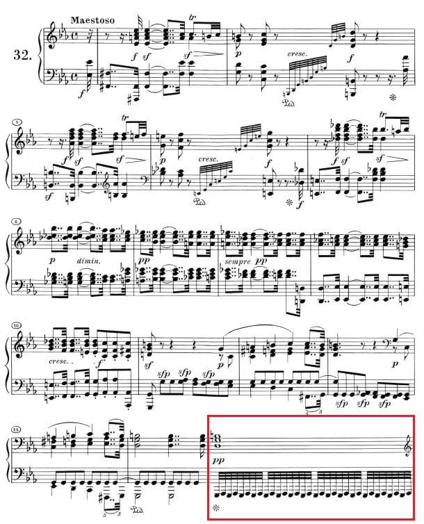 Beethoven op. 111 - 1. Satz - Takt 16