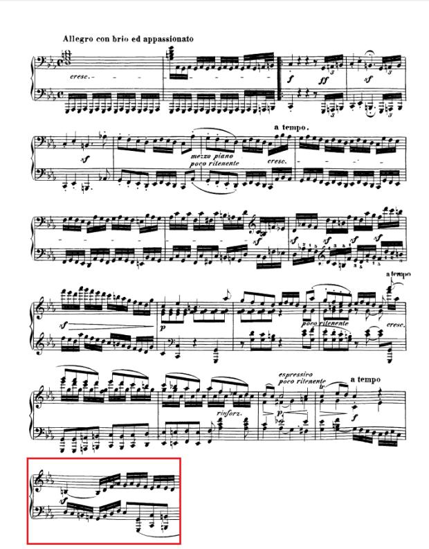 Beethoven op. 111 - 1. Satz - Takt 36
