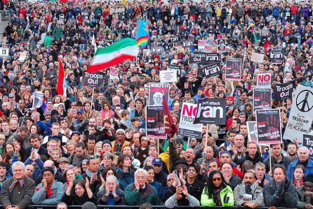 Iraq War protesters in Trafalgar Square, London