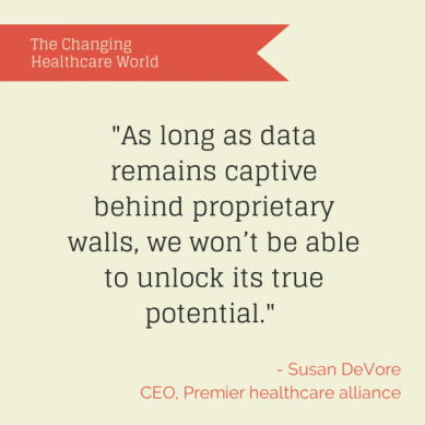 Susan DeVore, Premier healthcare alliance