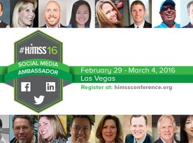 HIMSS SOCIAL MEDIA AMBASSADORS 2016