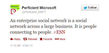 Enterprise Social Network Tweet