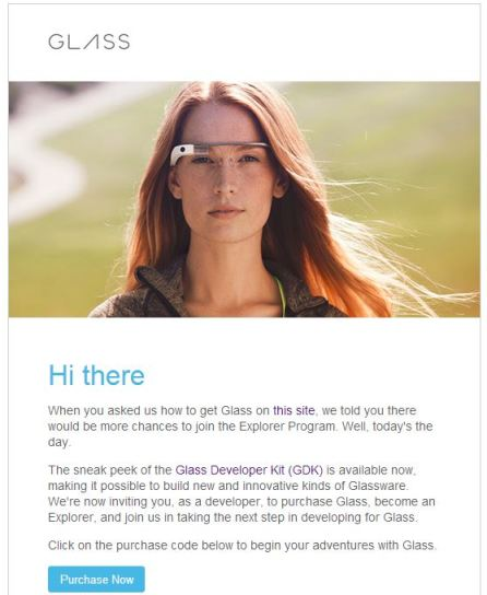 Google Glass Invitation