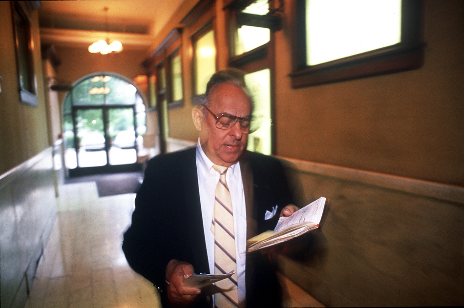 FRED ZWICKY/Journal Star In 1990, Jim MaloofÕs day as PeoriaÕs Òpart-timeÓ mayor kept him running from dusk to dawn, working both as an ambassador for the city as a public persona, all the while working behind the scenes on economic development projects.