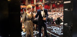 Snapshots from backstage at the 85th Academy Awards
