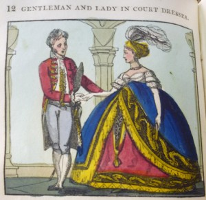 "Gentleman & Lady in ""court dress"" from the 1820 ed."