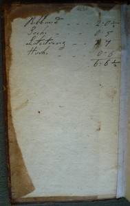 Inscription on rear pastedown (reversed for legibility in this image)