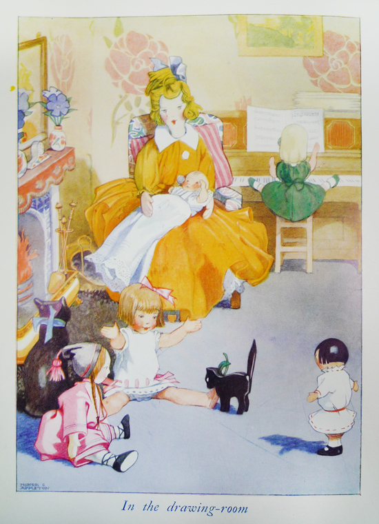 Plate [53], The doll above can clearly be seen sitting in the bottom left of this illustration. (Cotsen 7223)
