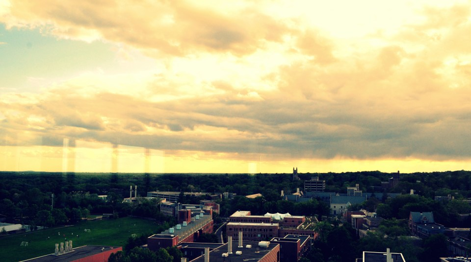 The view from the Professors' Lounge