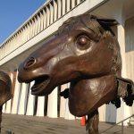 Horse sculpture