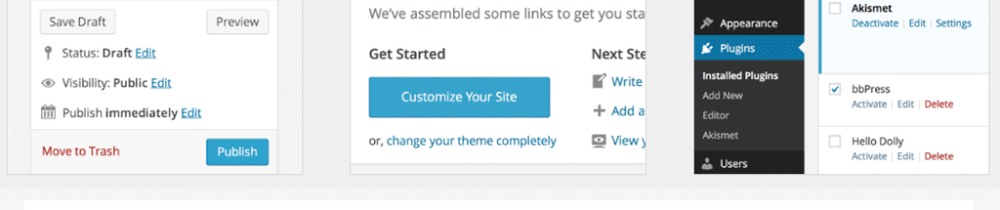 Wordpress 3.8 admin interface